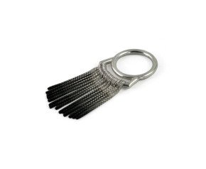 Sterling Silver & Black Oxidised Silver Fringe Ring