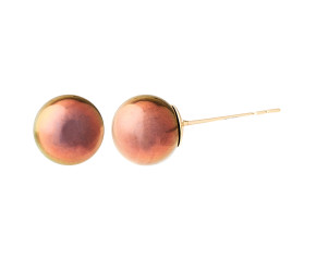 9ct Gold 7mm Freshwater Brown Pearl Earrings
