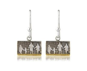 Sterling Silver Family On The Beach Drop Earrings