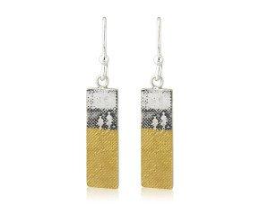 Sterling Silver Footprints In The Sand Earrings