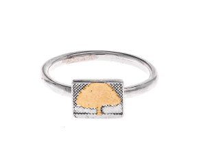 Sterling Silver Little Golden Tree Ring