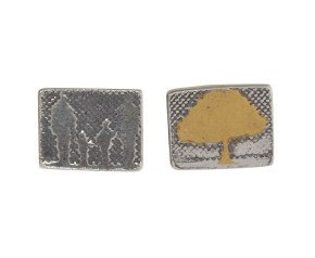 Sterling Silver Family of Four & Golden Tree Earrings