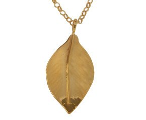 Sterling Silver & Yellow Gold Vermeil Small Wild Apple Leaf Pendant