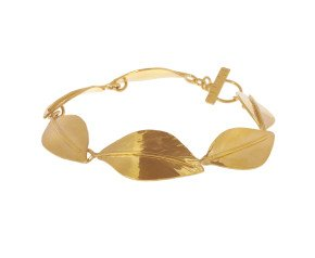 Sterling Silver & Yellow Gold Vermeil Wild Apple Leaf Bracelet