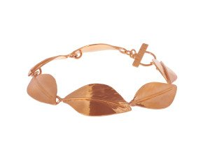 Sterling Silver & Rose Gold Vermeil Wild Apple Leaf Bracelet