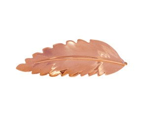 Sterling Silver & Rose Gold Vermeil Rowan Leaf Bracelet