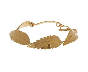 Sterling Silver & Yellow Gold Vermeil Rowan Leaf Bracelet