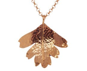 Sterling Silver & Rose Gold Vermeil Hawthorn Small Leaf Pendant