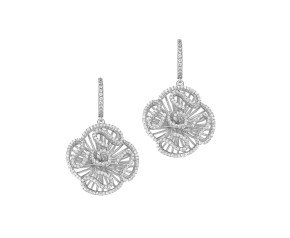 Sterling Silver Cascade Stud Drop Earrings