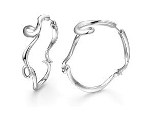 Sterling Silver Serenity Hoop Earrings