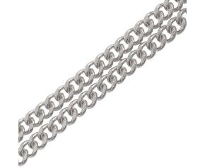 18ct White Gold Filed Curb Chain Necklace