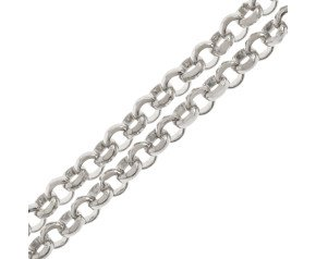 9ct White Gold Baby Belcher Chain