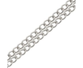 9ct White Gold Curb Chain