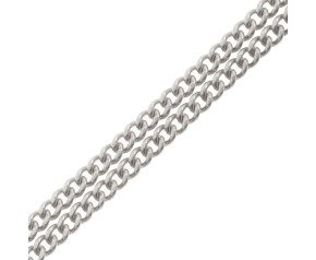9ct White Gold Filed Curb Chain