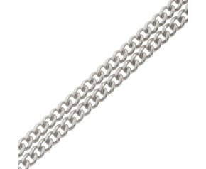 18ct White Gold 1.59mm Filed Curb Chain