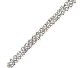 9ct White Gold Tight Link Trace Chain