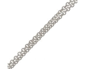 18ct White Gold Tight Link Trace Chain