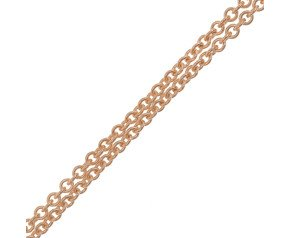 18ct Rose Gold Tight Link Trace Chain