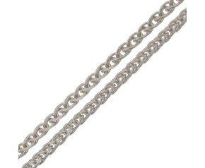 9ct White Gold 1.30mm Spiga Chain