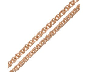 9ct Rose Gold 1.30mm Spiga Chain