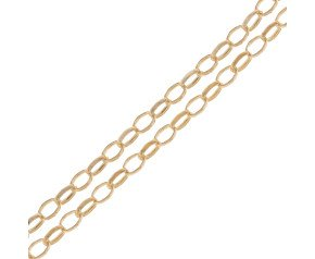 18ct Yellow Gold 1.84mm Oval Link Belcher Chain