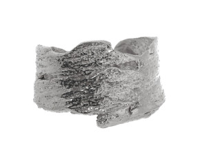 Sterling Silver Bark Ring