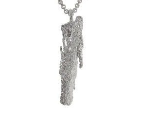 Sterling Silver Bark Necklace