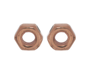 18ct Rose Gold Vermeil Hex Nut Studs