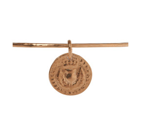 18ct Rose Gold Vermeil Bawbee Coin Bangle