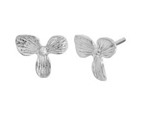 Sterling Silver Orchid Studs