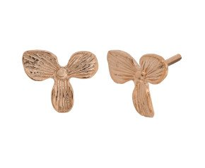 18ct Rose Gold Vermeil Orchid Studs