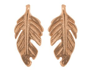 18ct Rose Gold Vermeil Feather Studs