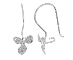 Sterling Silver Orchid Drop Earrings
