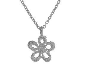 Sterling Silver Lace Daisy Necklace