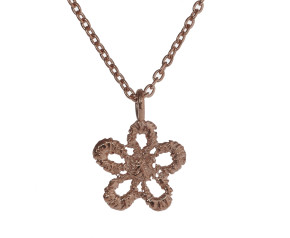 18ct Rose Gold Vermeil Lace Daisy Necklace
