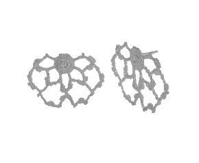 Sterling Silver Lace Cobweb Stud Earrings