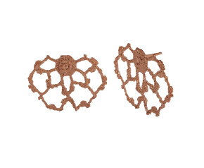 18ct Rose Gold Vermeil Lace Cobweb Stud Earrings