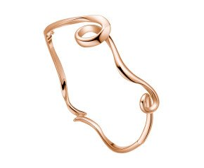 Sterling Silver & 18ct Rose Gold Vermeil Serenity Bangle