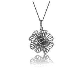 Sterling Silver & Black Rhodium Vermeil Cascade Large Pendant