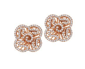 Sterling Silver & 18ct Rose Gold Vermeil Mini Cascade Stud Earrings