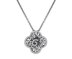 Sterling Silver & Black Rhodium Vermeil Mini Cascade Pendant