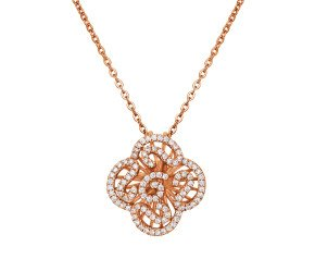 Sterling Silver & 18ct Rose Gold Vermeil Mini Cascade Pendant