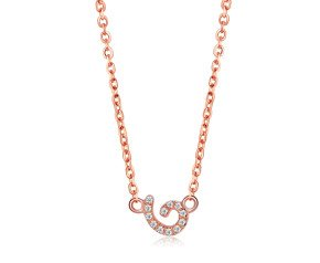 Sterling Silver & 18ct Rose Gold Vermeil Cascade Tiny Swirl Necklace