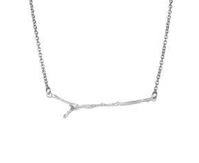Black Rhodium Vermeil & Sterling Silver Twig Necklace