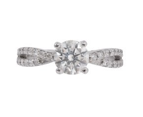 18ct White Gold 0.96ct Diamond Solitaire Ring