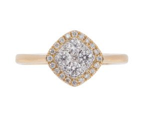 18ct Gold 0.30ct Diamond Cluster Ring