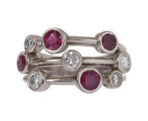 1.00ct Ruby & 0.65ct Diamond Dress Ring