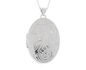 Sterling Silver Classic Oval Locket
