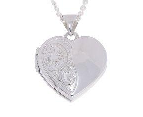 Sterling Silver Small Heart Locket