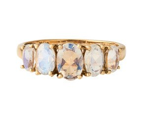 Pre-Owned 9ct Gold Moonstone Ring